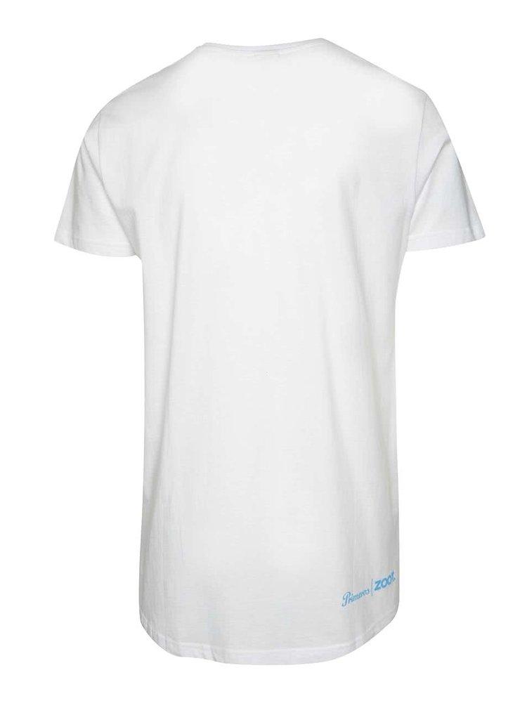 Bílé unisex tričko modrým potiskem Primeros Softglide