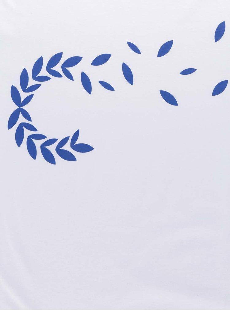 Bílé unisex triko s tmavě modrým potiskem Primeros Classic