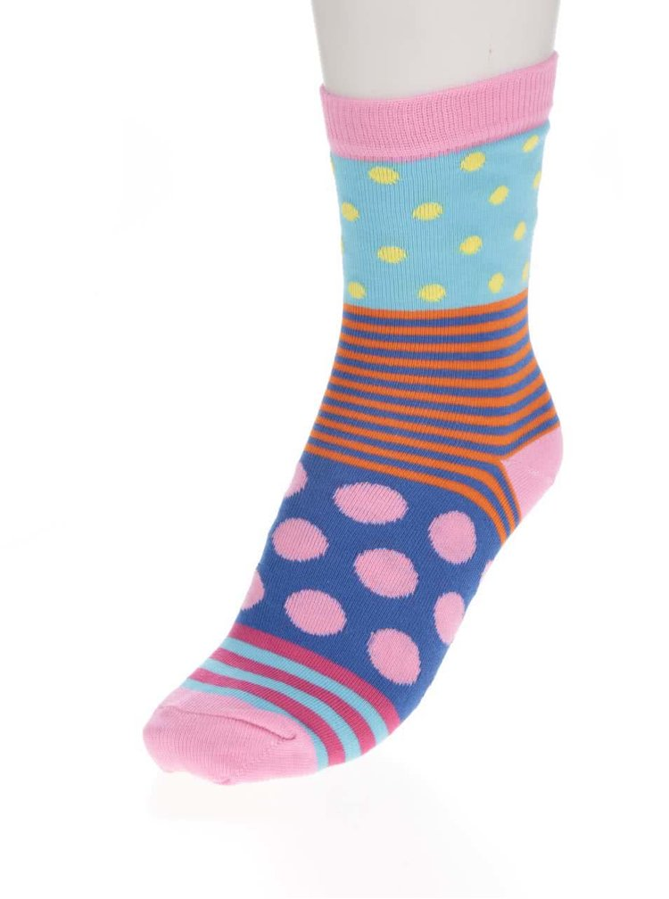 Sada šesti dámských barevných ponožek Oddsocks Polka