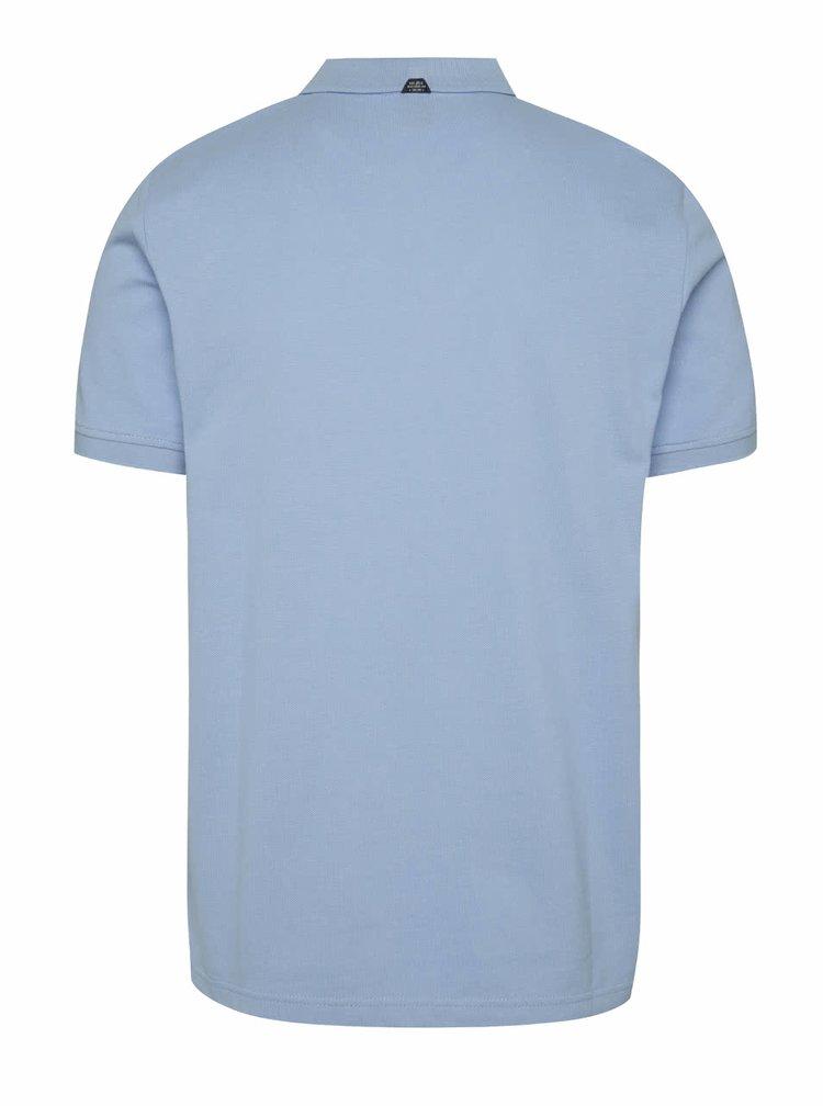 Světle modré pánské polo triko s.Oliver
