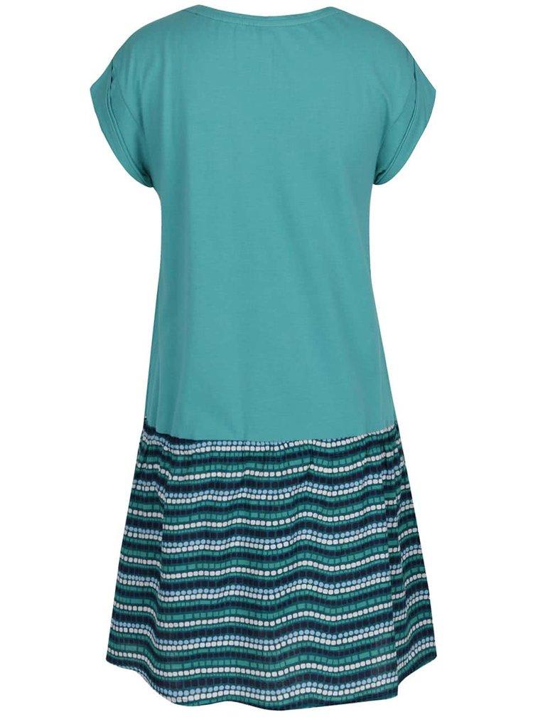 Tyrkysové šaty s vzorovanou sukní Tranquillo Louvisa