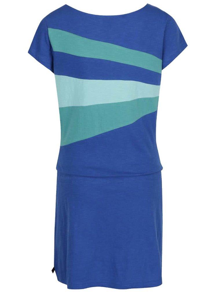 Tyrkysovo-modré šaty s krátkým rukávem Tranquillo Agate