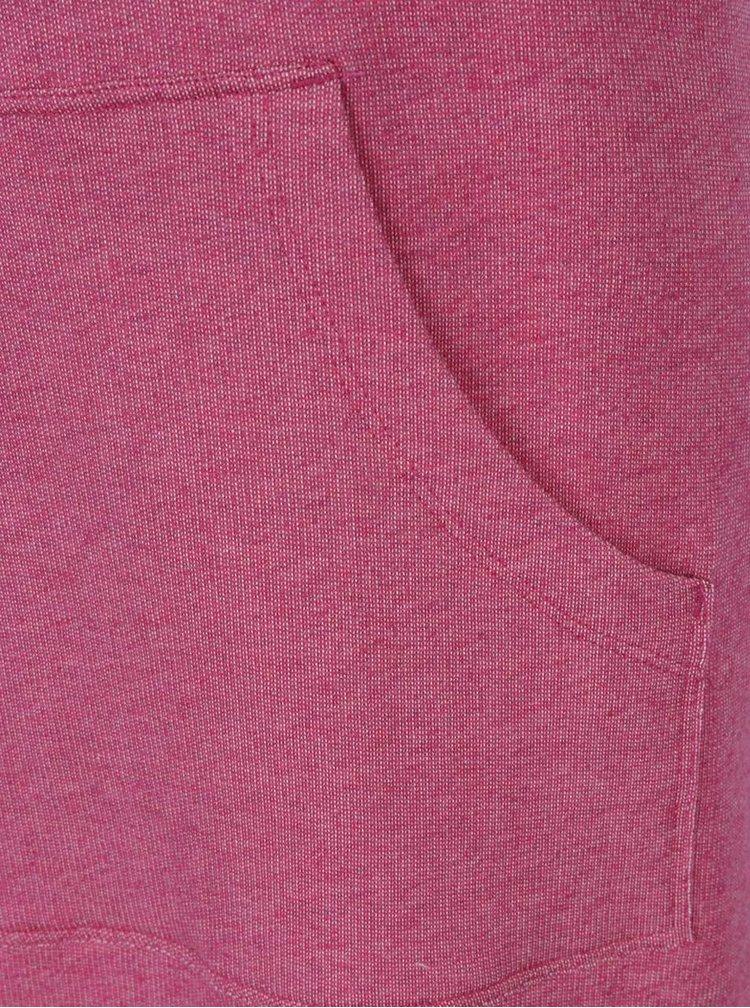 Růžové mikinové midišaty Tranquillo Mailin