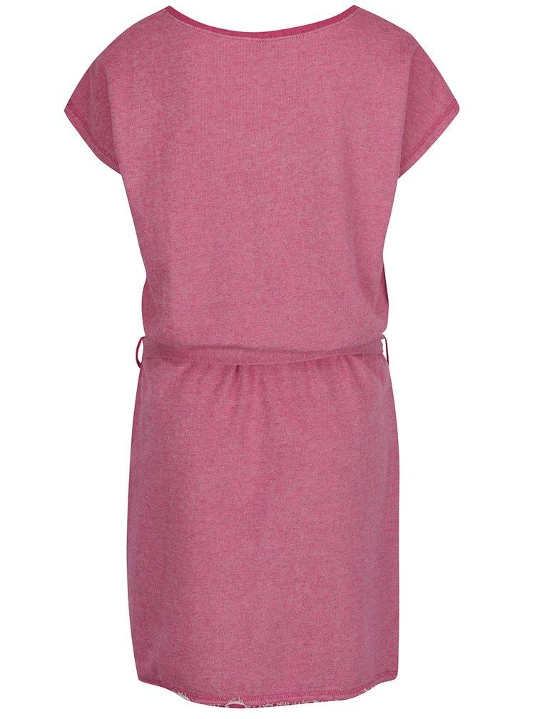 Růžové mikinové šaty Tranquillo Janne