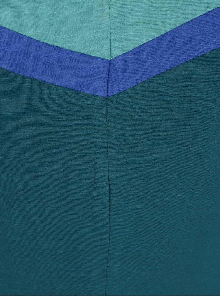 Tmavě zelené šaty s véčkovým výstřihem Tranquillo Kiki