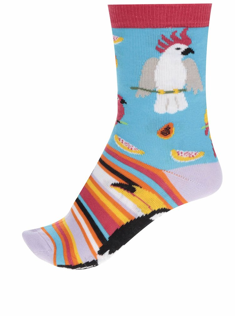 Sada tří dámských ponožek v červené a žluté barvě Oddsocks Hilary