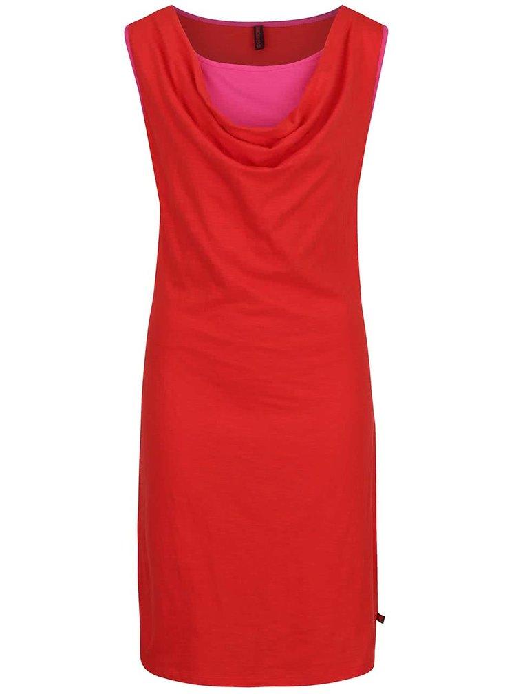 Červené šaty bez rukávů Tranquillo Sophia