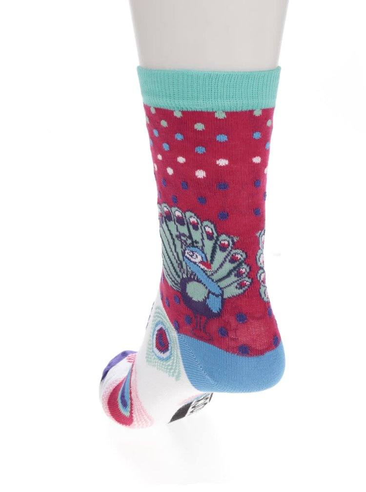 Set trei sosete multicolore Oddsocks Stacey cu pauni