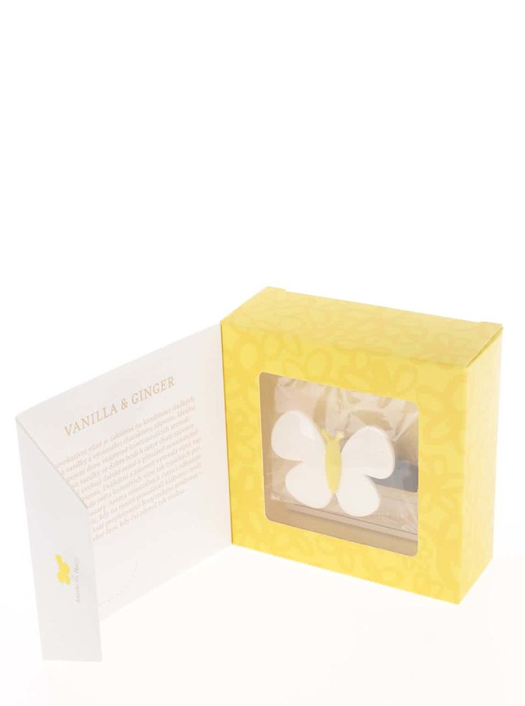 Odorizant auto galben&crem Motýlek Marta Vanilla & Ginger