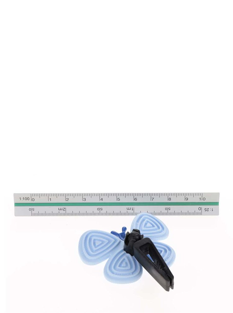 Světle modrý vonný motýlek do auta Motýlek Marta Silver Water