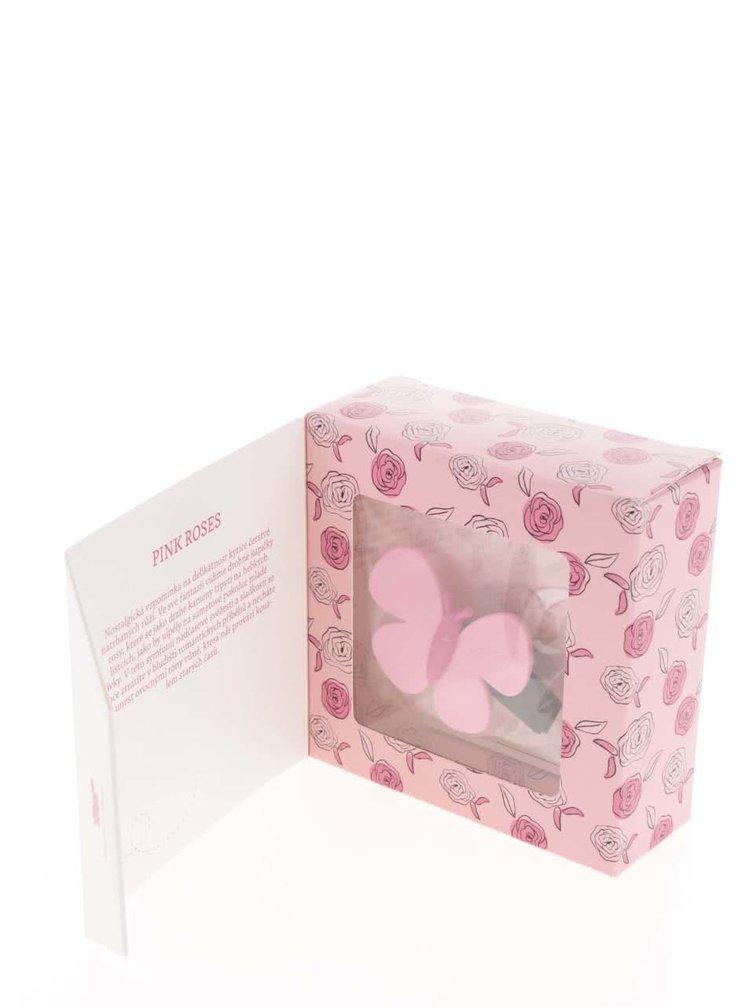 Růžový vonný motýlek do auta Motýlek Marta Pink Roses