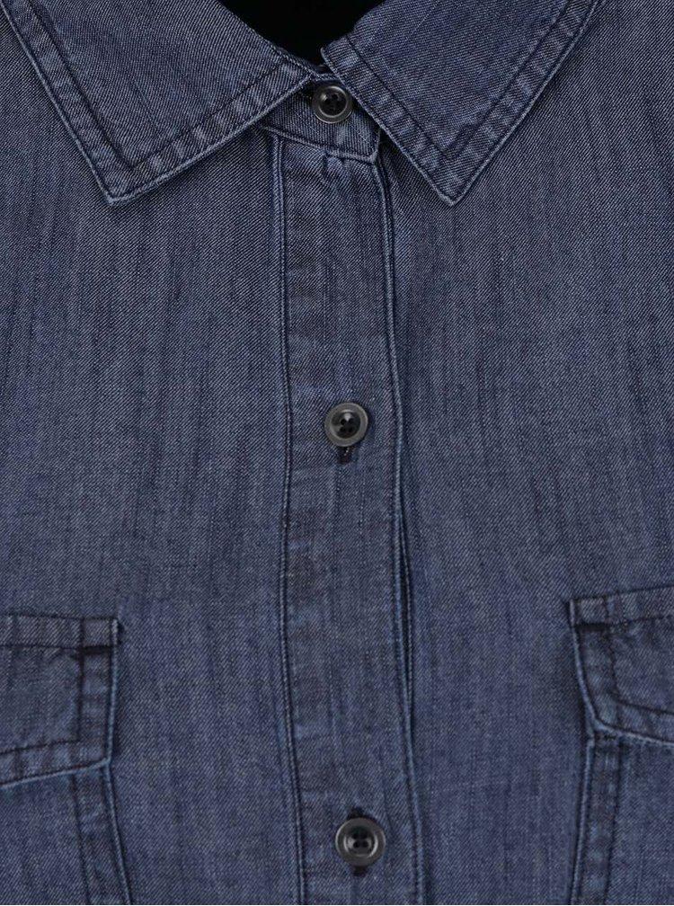 Rochie camasa albastru inchis Nautica cu aspect denim