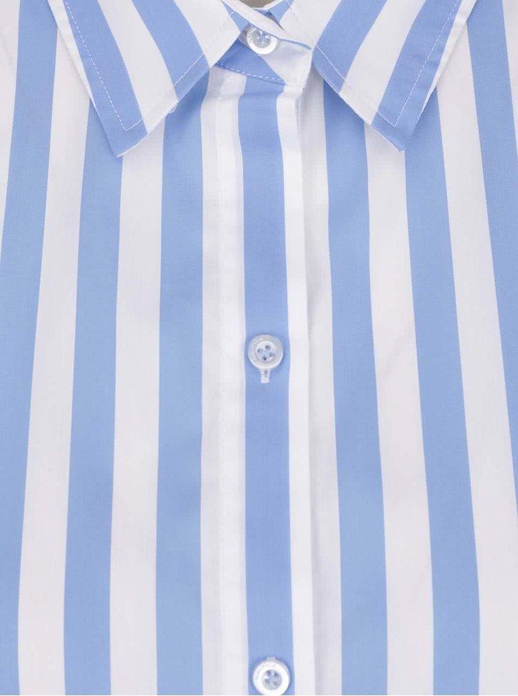 Camasa alb & albastru Nautica cu model in dungi si croi lejer