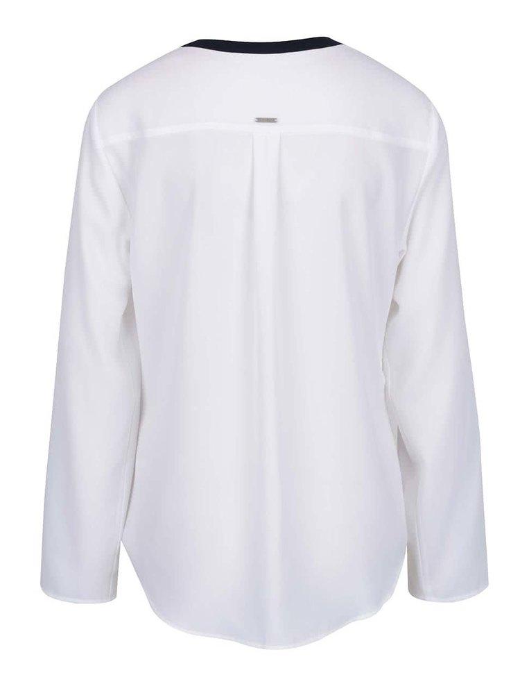 Bluză albă Nautica cu detalii bleumarin