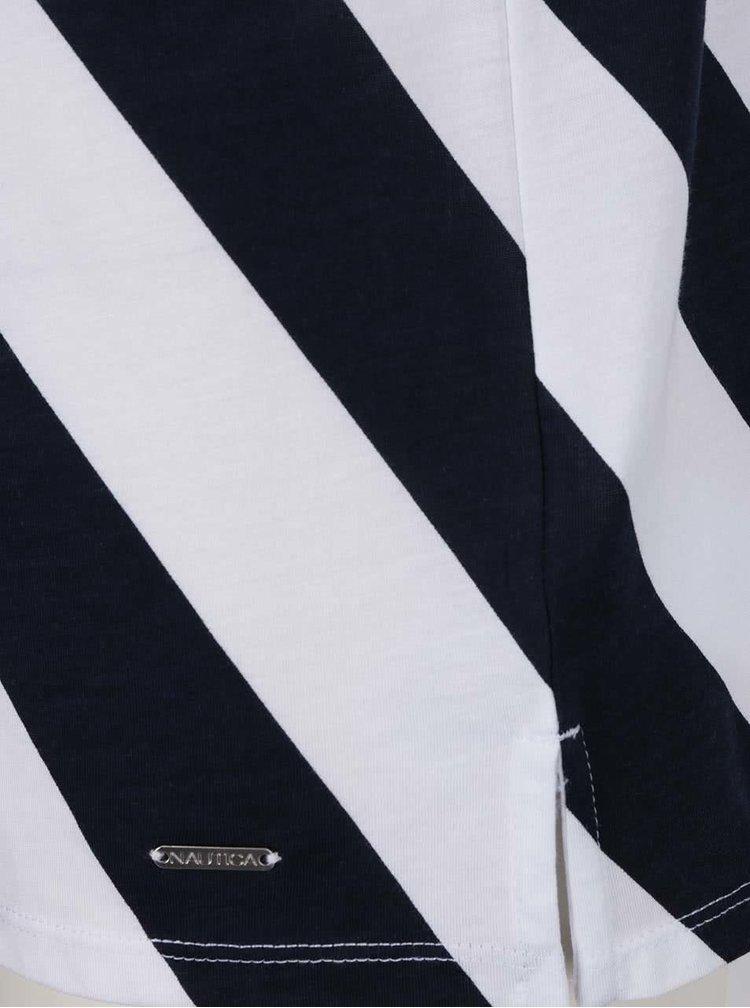 Top alb & albastru închis Nautica cu model