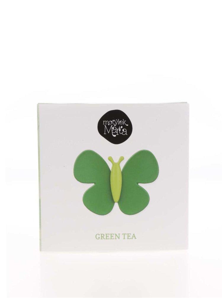 Zelený vonný motýlek do auta Motýlek Marta Green Tea
