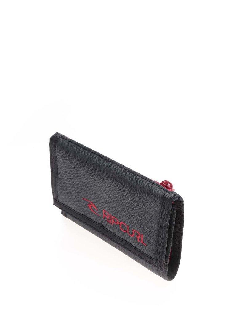 Tmavě šedá pánská peněženka s jemným vzorem Rip Curl Plain Surf