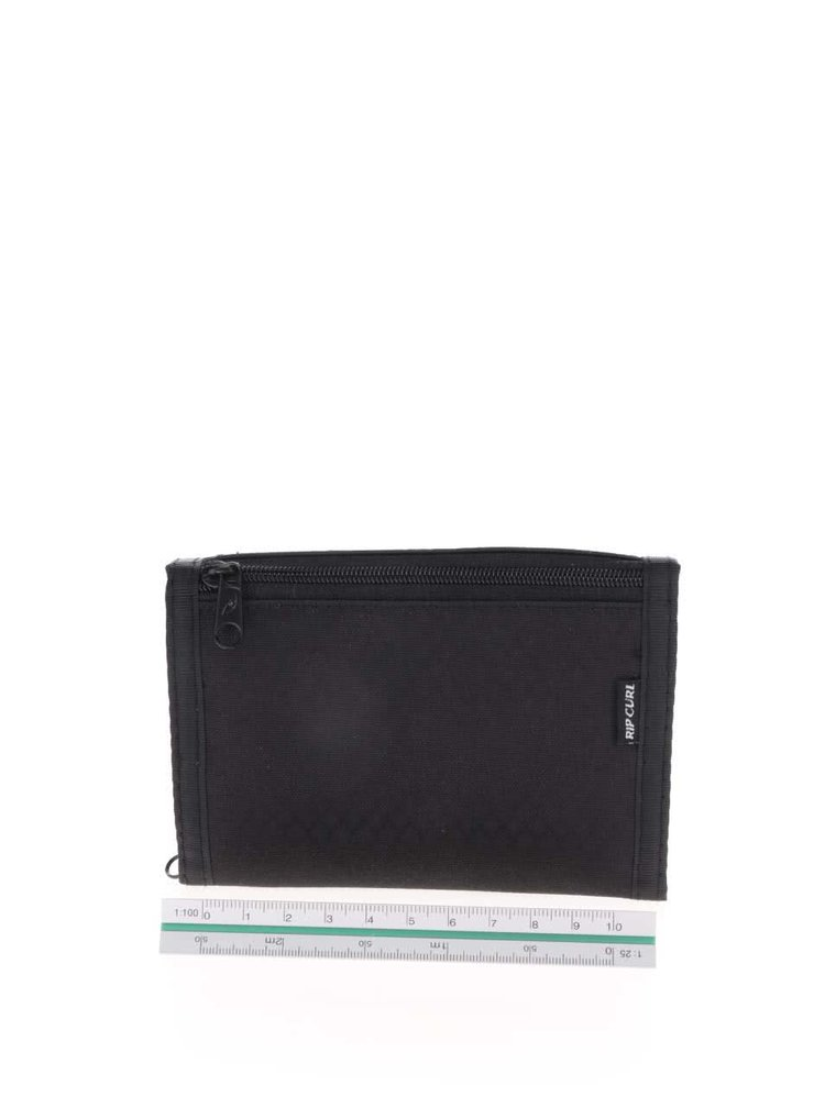 Černá pánská peněženka s jemným vzorem Rip Curl Plain Surf