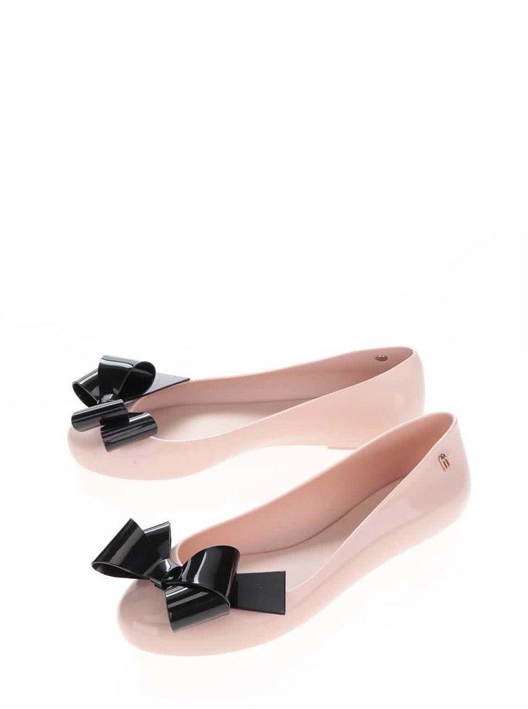 Starorůžové baleríny s černou mašlí Melissa Space Love