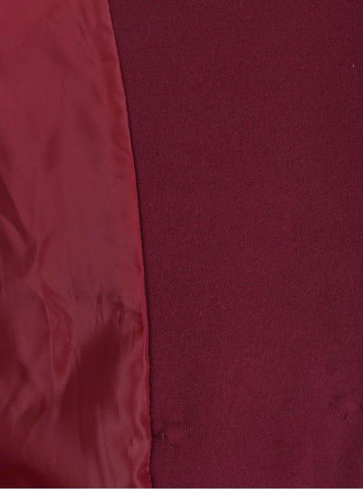 Vínový kabát se zavazováním v pase ZOOT