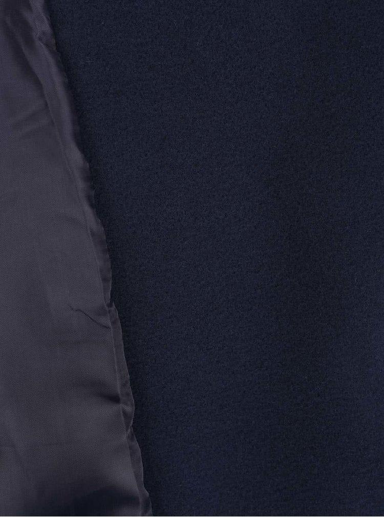 Tmavě modrý kabát se zavazováním v pase ZOOT