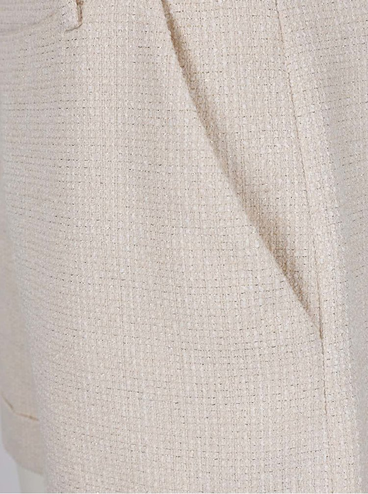 Krémové třpytivé dámské kraťasy Pietro Filipi