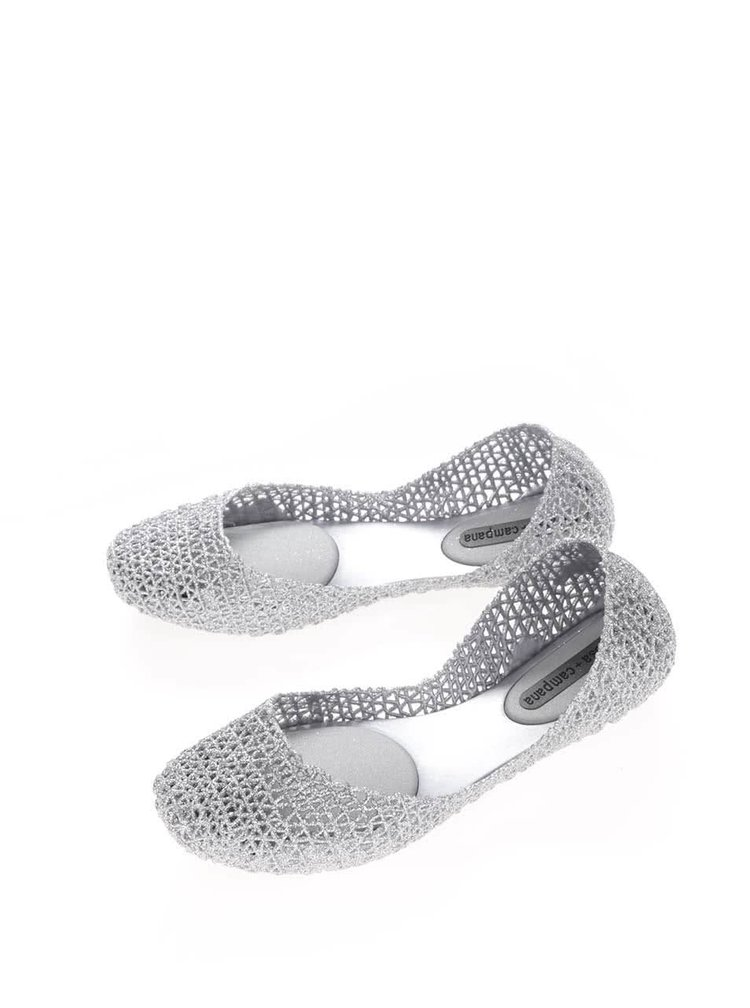 Balerini gri-argintiu Melissa Campana Papel