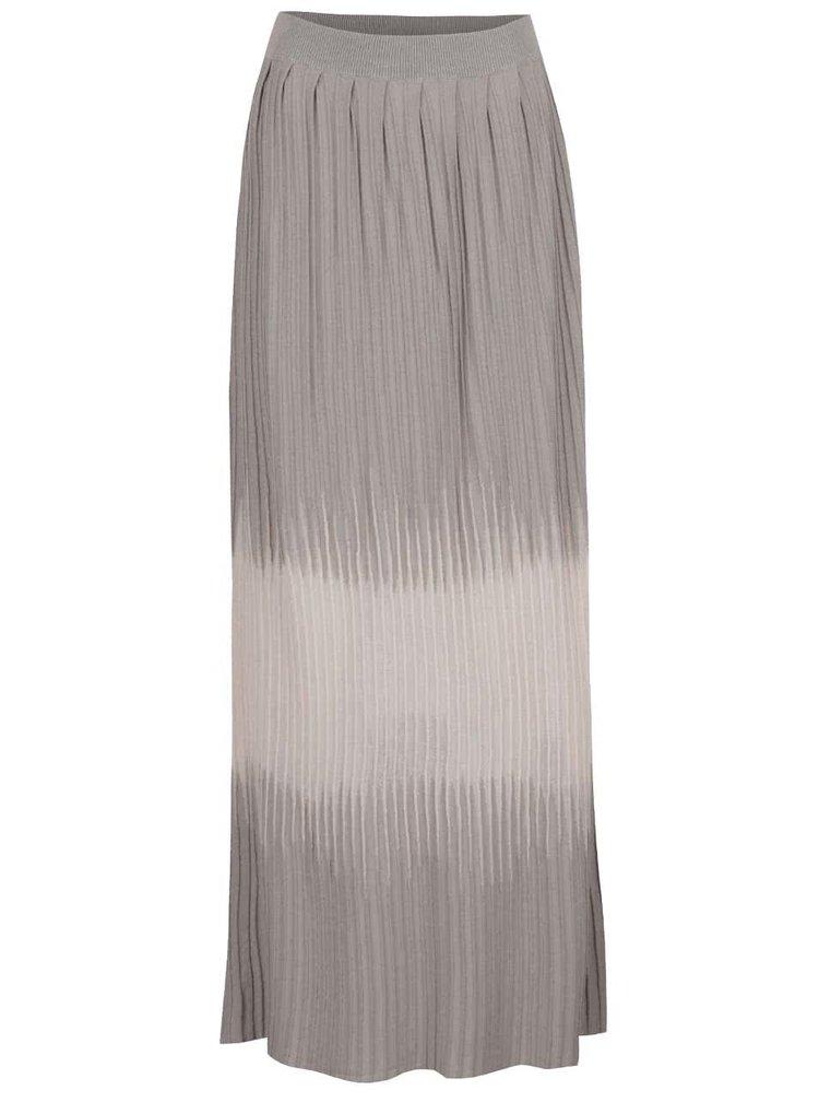 Růžovo-šedá dlouhá plisovaná sukně Pietro Filipi