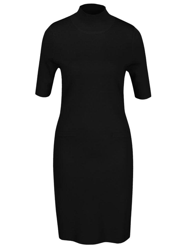 Černé šaty s rolákem Pietro Filipi
