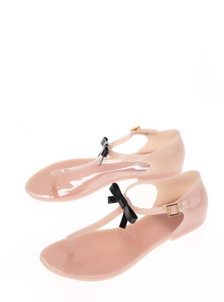 Starorůžové sandály s mašlí Melissa Honey