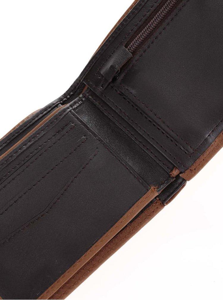 Světle hnědá pánská kožená peněženka 2v1 Rip Curl Clean