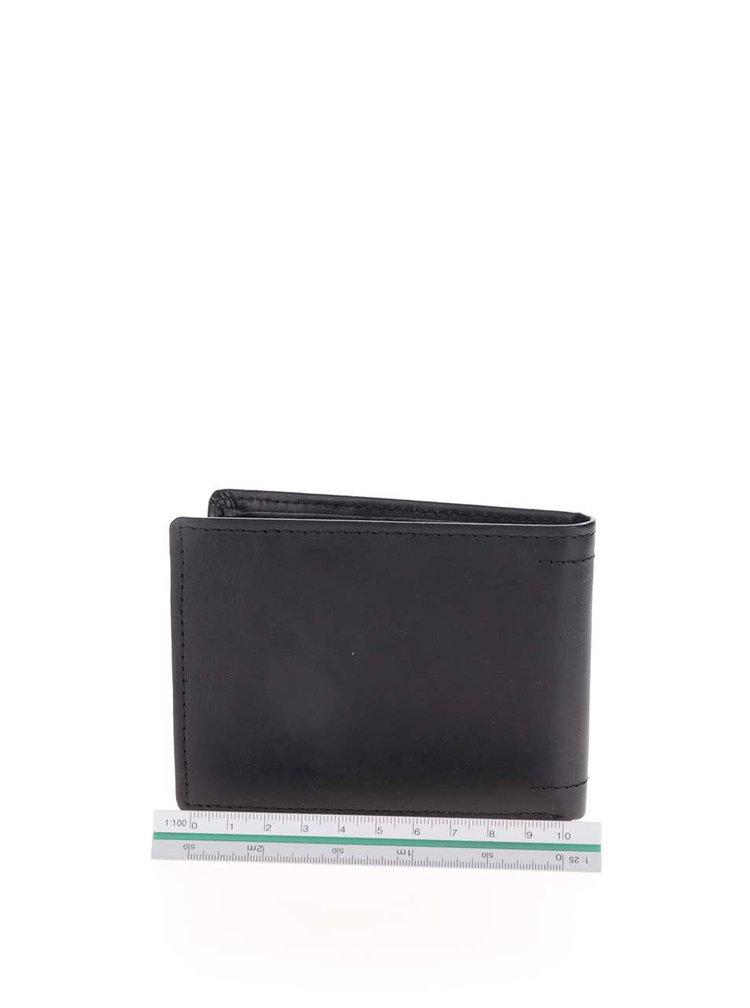 Černá pánská kožená peněženka s nápisem Rip Curl Free All Day