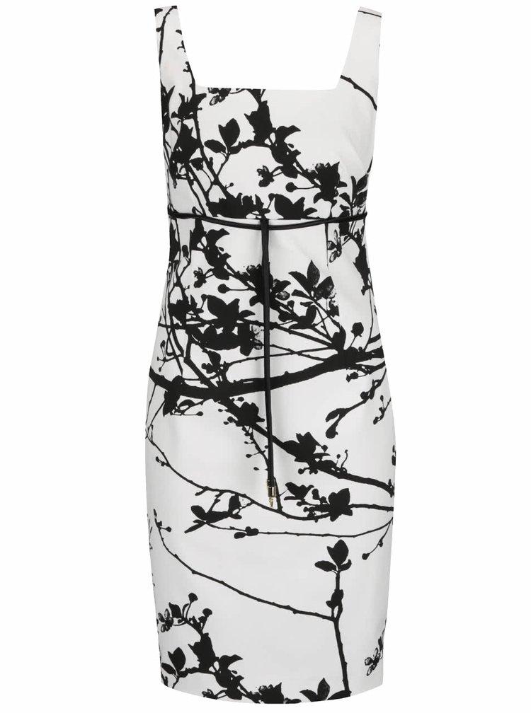 Černo-bílé midi šaty bez rukávů Pietro Filipi