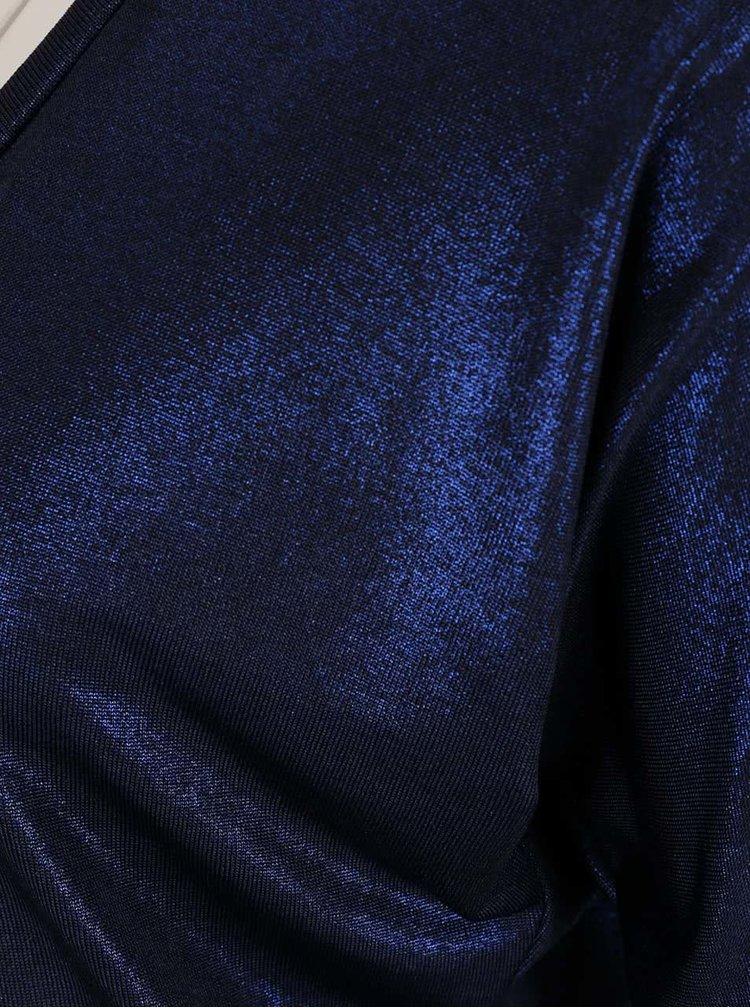 Bluză albastru închis Pietro Filipi cu inserție de lurex
