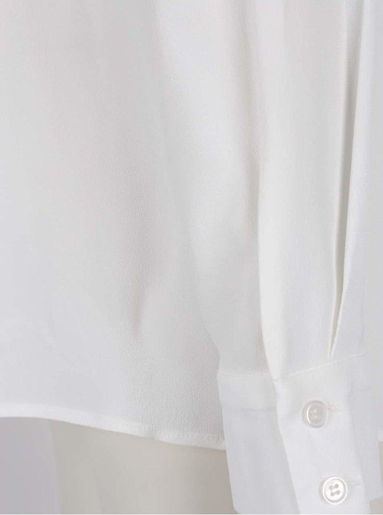 Bílá volná halenka s dlouhým rukávem Pietro Filipi