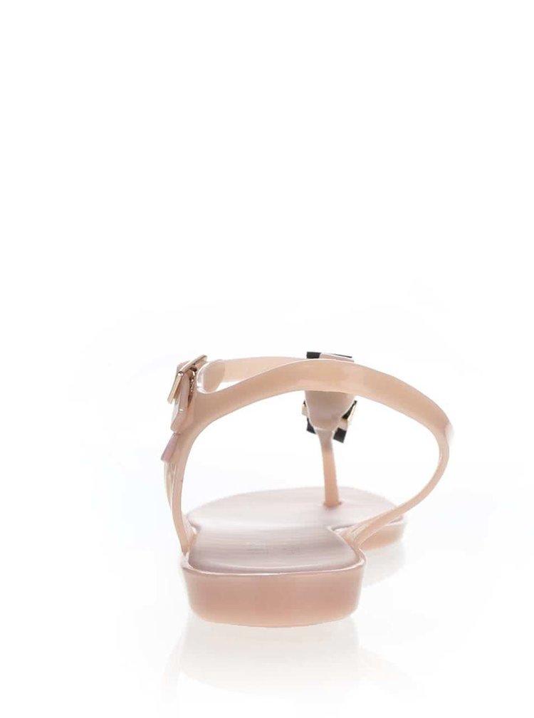 Sandale roz Melissa Solar cu detaliu metalic