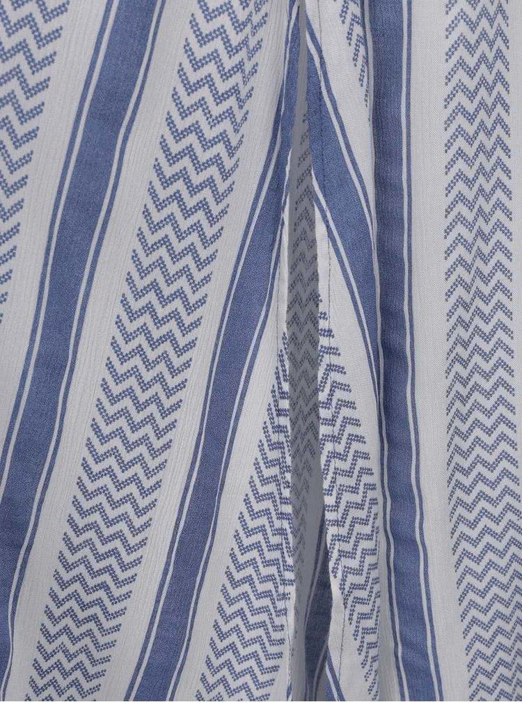 Rochie maxi alb&albastru Rip Curl Del Sol cu model