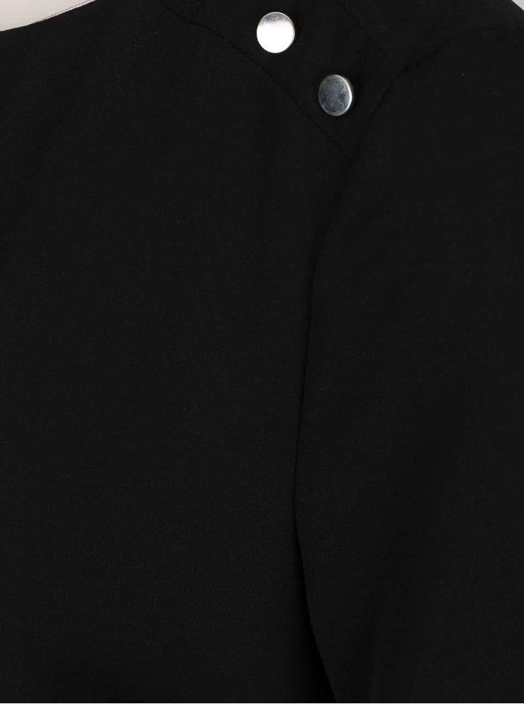 Černá halenka s detaily na ramenou Dorothy Perkins