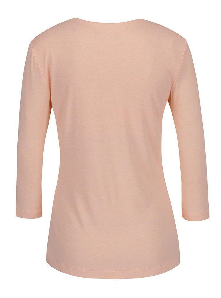 Bluză roz pal Pietro Filipi cu decolteu asimetric