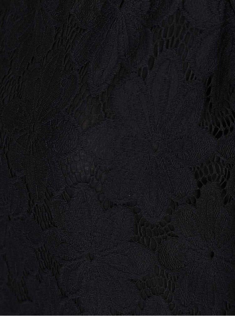 Tricou negru Dorothy Perkins cu dantelă