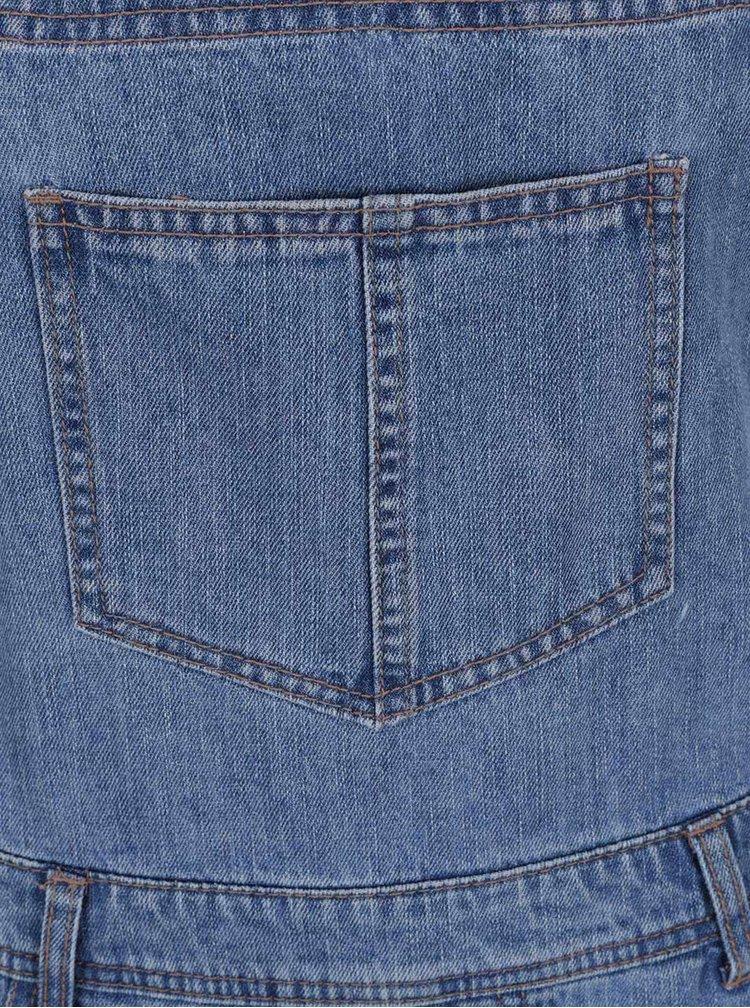 Modré džínové kraťasy s laclem Dorothy Perkins