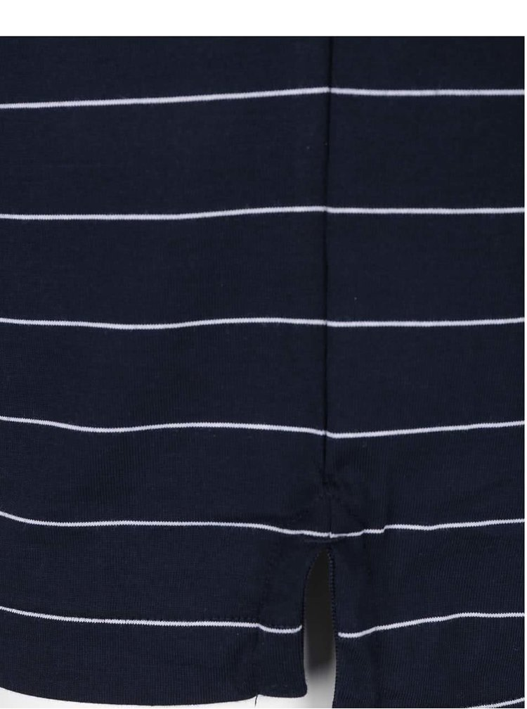 Tmavě modré pruhované polo triko Original Penguin Engineered