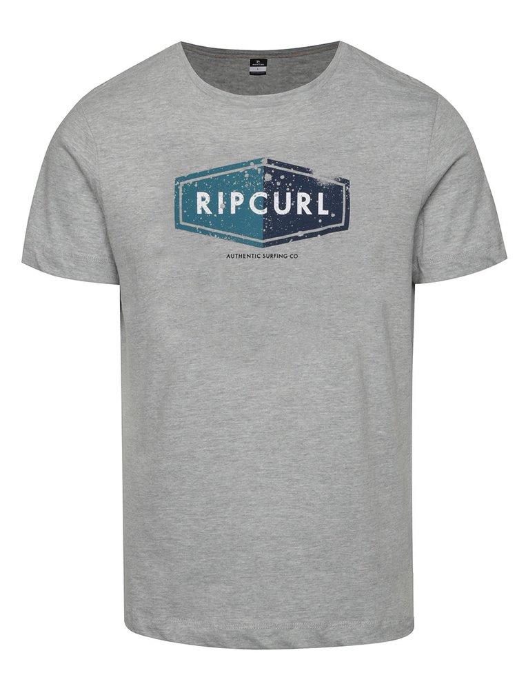 Šedé pánské triko s potiskem Rip Curl Losange Logo