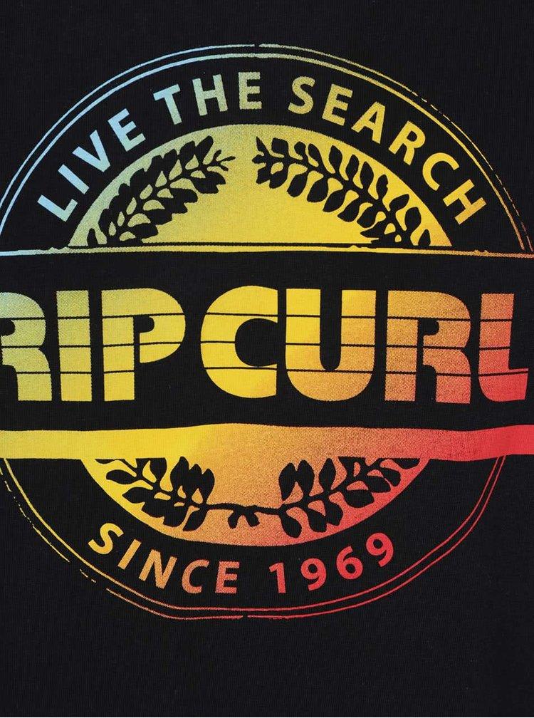 Černé pánské triko s potiskem Rip Curl Big Mama