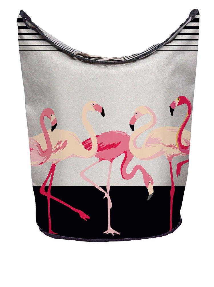 Cos de rufe crem cu print flamingo -  Butter Kings