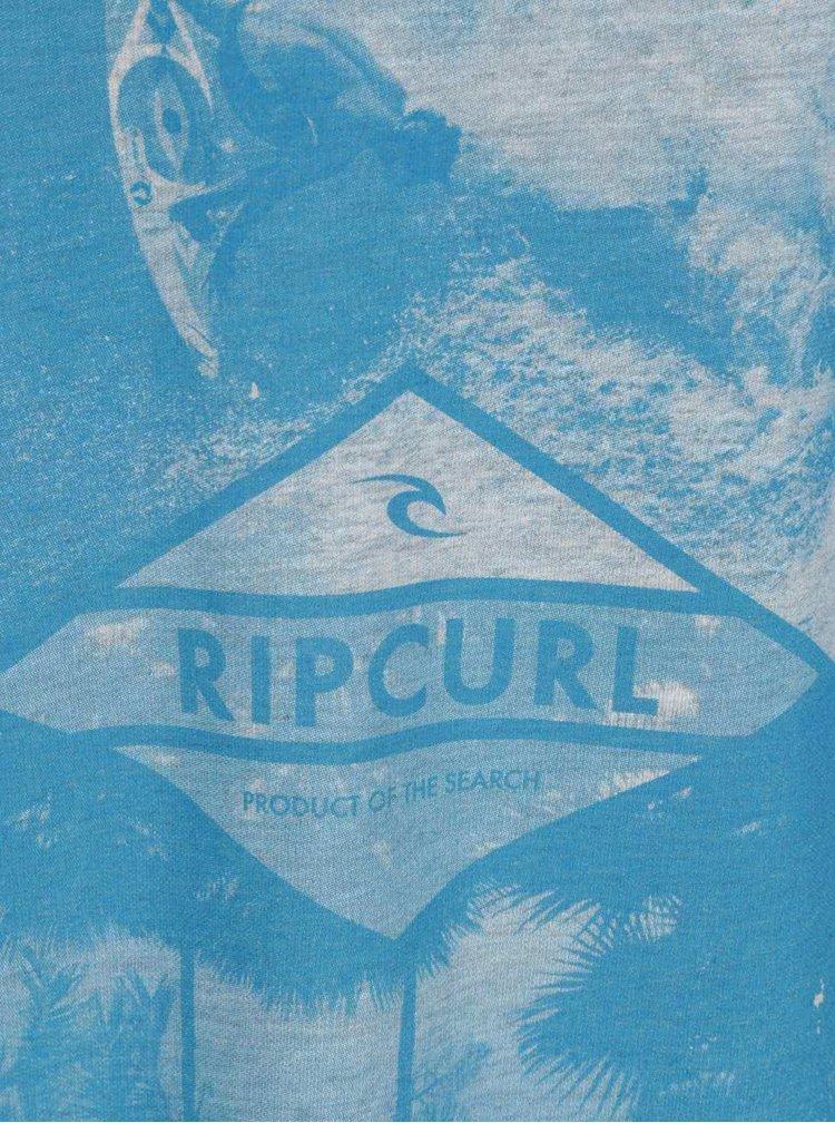 Šedé pánské triko s modrým potiskem Rip Curl Surfers