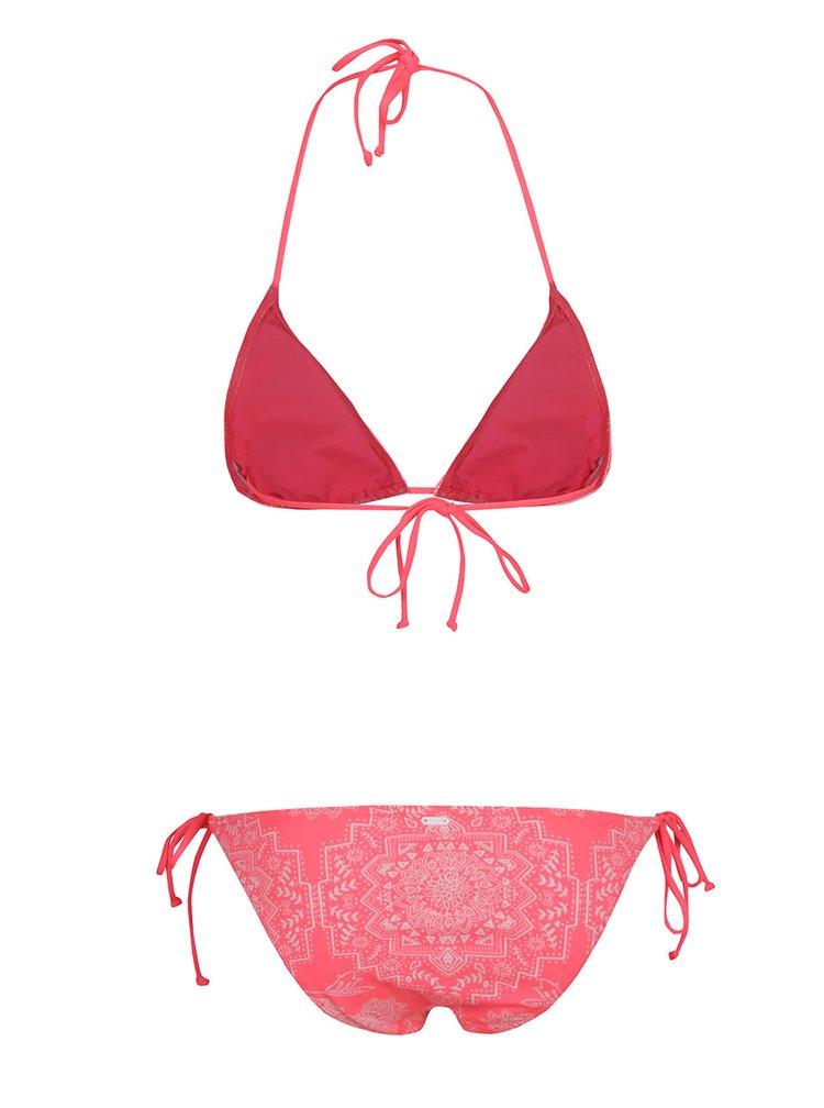 Costum de baie roz Rip Cuel Linda cu imprimeu