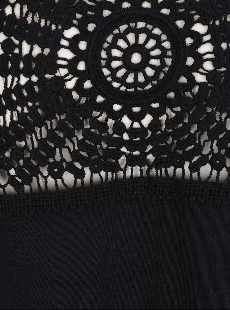 Černé dámské tílko s krajkou Rip Curl Palma