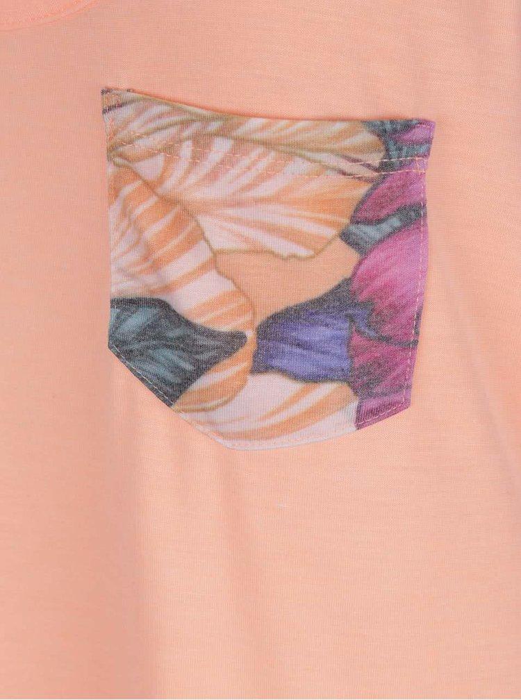 Oranžové dámské tílko s potiskem na zádech Rip Curl Flower Pocket