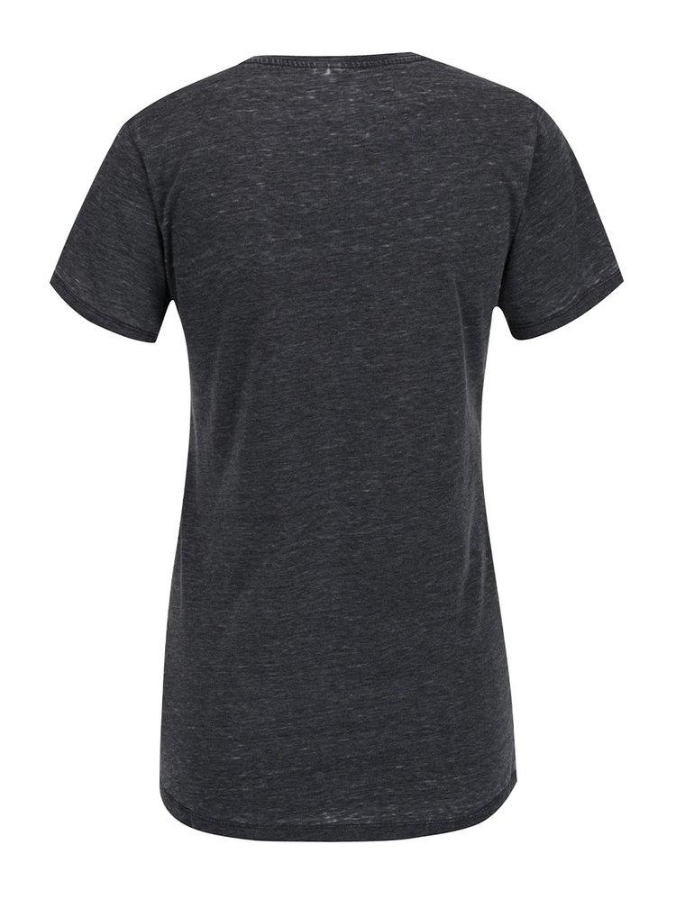 Šedé žíhané dámské tričko s kapsou Rip Curl Tera